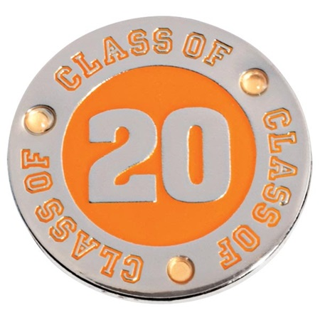 Class of 2020 Award Pin - Orange Rhinestones