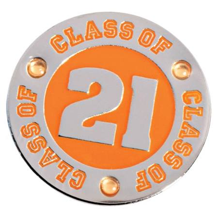Class of 2021 Award Pin - Orange Rhinestones
