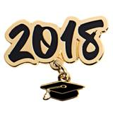 Grad Cap Dangler Award Pin - Class of 2018