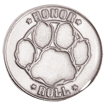 Silver Paw Honor Roll Award Pin