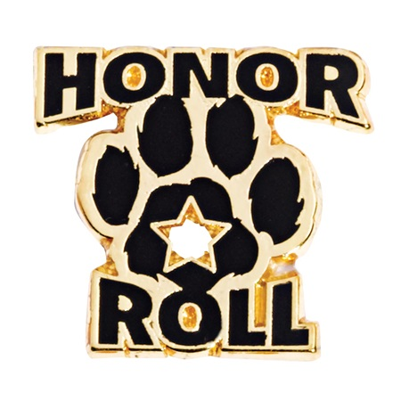 Black Paw Honor Roll Award Pin