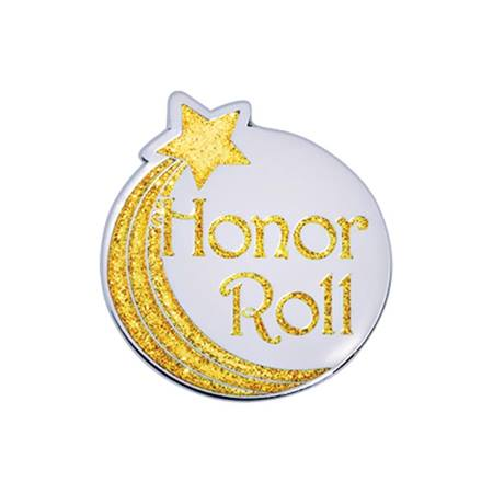 Honor Roll Award Pin - Glitter Shooting Star