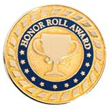 Honor Roll Award Pin - Blue and Gold