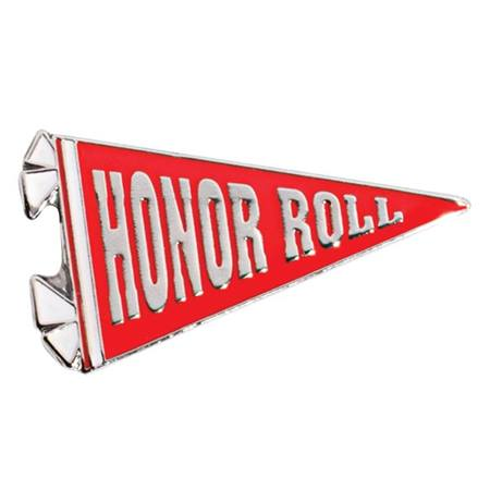 Honor Roll Award Pin - Red Pennant