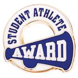 Blue Student Athlete Sports Award Pin