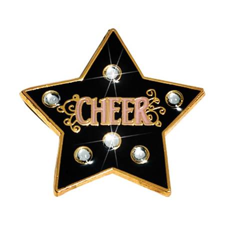 Bling Award Pin - Cheer Star