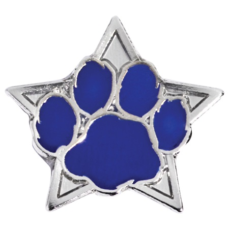 Blue Paw/Star Mini Pin