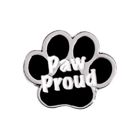 Paw Proud Award Pin - Black and Silver