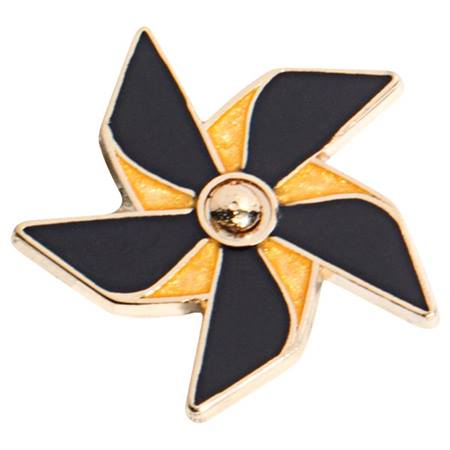 Pinwheel Pin - Black and Gold