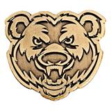 Bear Gold Animal Metallic Pin