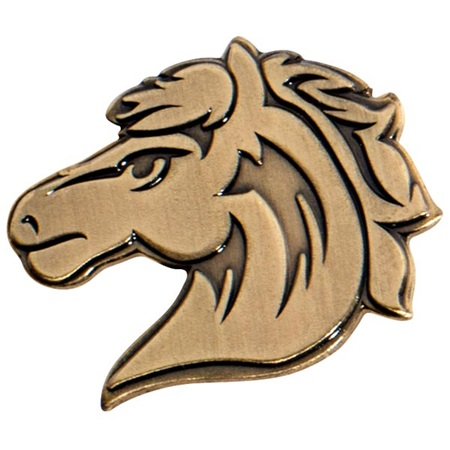 Horse Gold Animal Metallic Pin