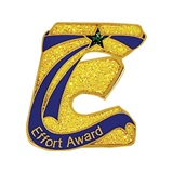 E for Effort Glitter Award Pin