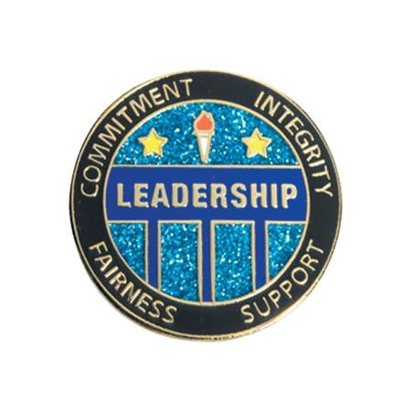 Glitter Leadership Pin