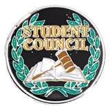 Student Council Glitter Award Pin