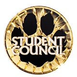 Student Council Award Pin - Paw Burst