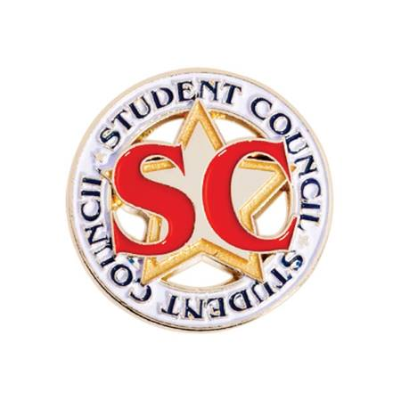 Student Council Award Pin - Die-cut Star/Letters