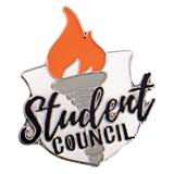 Student Council Award Pin - Shield/Torch