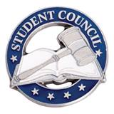 Student Council Award Pin - Book and Gavel