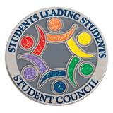 Glitter Student Council Award Pin - Students Leading Students