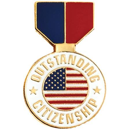 Outstanding Citizenship Award Pin – Flag Medallion