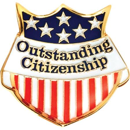 Outstanding Citizenship Award Pin – Flag Shield