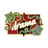 Drama Masks Pin