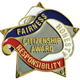 Citizenship Award Pin, Stars/Ribbons