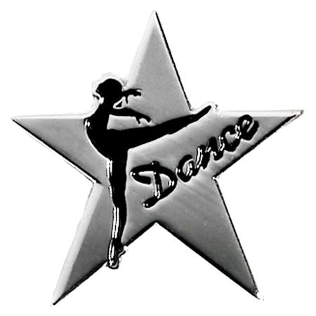 Dance Award Pin - Silver Star