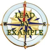 Leadership Award Pin – Lead By Example Compass