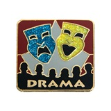 Drama Award Pin – Glitter Masks