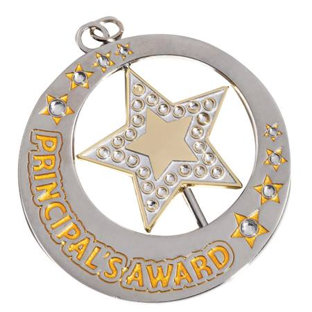 Principal's Award Spinner Medallion