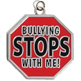 Bullying Stops With Me Shaped Medallion