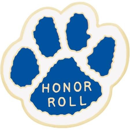 Honor Roll Paw Award Pin – Blue/White