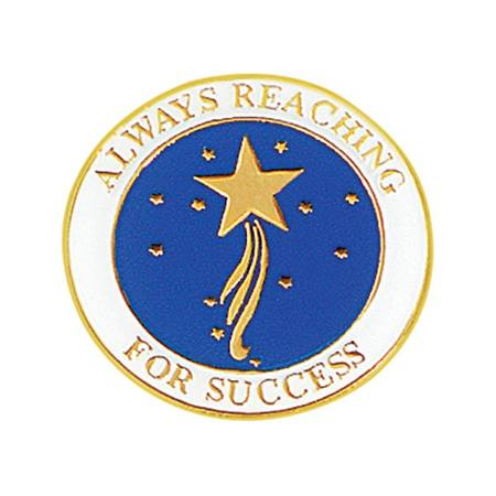Always Reaching for Success Award Pin – Gold Star