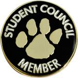 Student Council Member Award Pin – Paw
