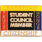 Student Council Member Award Pin – Trust, Leadership, Honor, Citizenship