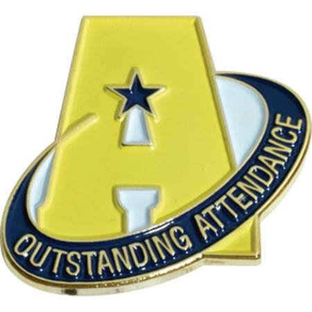 Outstanding Attendance Award Pin – A with Star