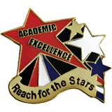 Academic Excellence Award Pin, Reach for the Stars