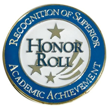Honor Roll Award Pin – Recognition of Superior Academic Achievement