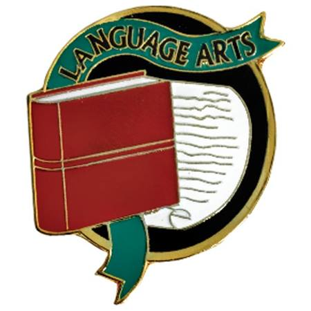 Language Arts Award Pin
