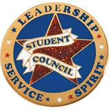 Student Council Award Pin – Red Glitter Star