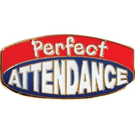 Perfect Attendance Award Pin – Red/Blue