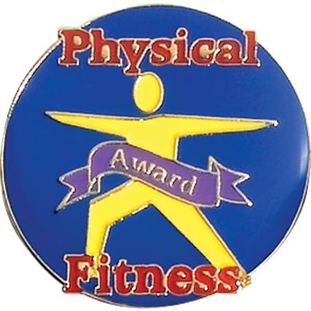 Physical Fitness Award Pin – Body on Blue