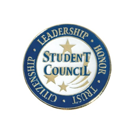 Student Council Award Pin – Leadership, Honor, Trust, Citizenship