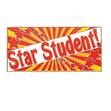 Star Student Award Pin with Stars