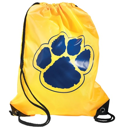 Yellow/Royal Blue Paw Backpack