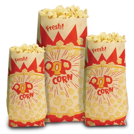 Paper Popcorn Bags-Small 1oz