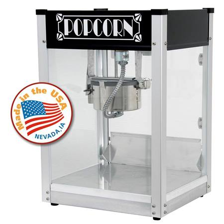 Gatsby Black 4 ounce Popcorn Machine