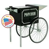 Medium 1911 Black Chrome Popcorn Cart