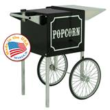 Small 1911 Black Chrome Popcorn Cart